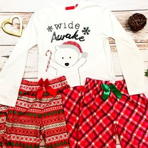 Other - Xmas pajamas 1 shirt 2 bottoms 14/16